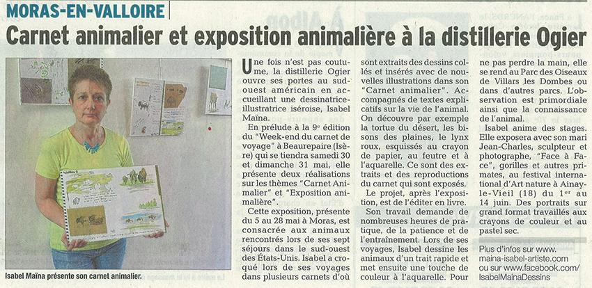 Article expo carnet animalier